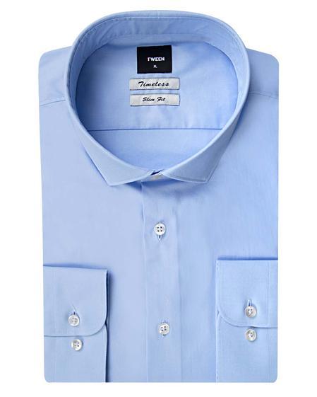 Tween Slim Fit Mavi Düz Gömlek - 8681649556671 | Damat Tween