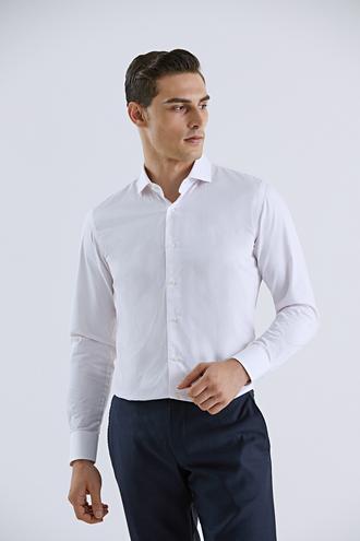 Damat Slim Fit Pembe Çizgili Gömlek - 8681649491910 | Damat Tween