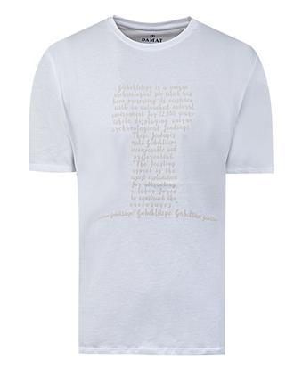 Damat Beyaz Baskılı T-shirt - 8681649720591 | Damat Tween