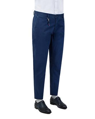 Tween Super Slim Fit Lacivert Desenli Chino Pantolon - 8681142961972   Damat Tween