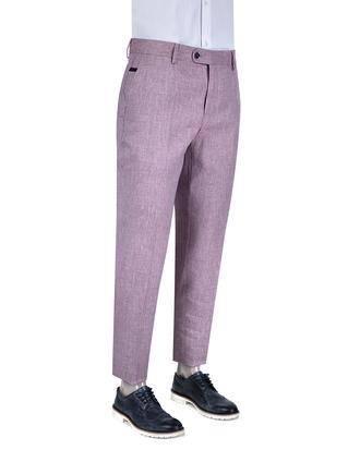 Tween Slim Fit Mürdüm Desenli Kumaş Pantolon - 8681649697824   D'S Damat
