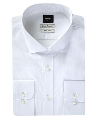Tween Slim Fit Beyaz Desenli Gömlek - 8681649258292 | D'S Damat
