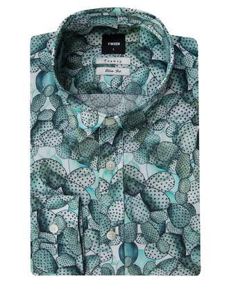 Tween Slim Fit Yeşil Desenli Gömlek - 8681649001577 | D'S Damat