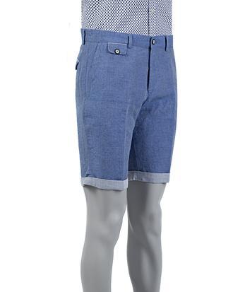 Tween Slim Fit Lacivert Çizgili Şort - 8681649583165 | Damat Tween