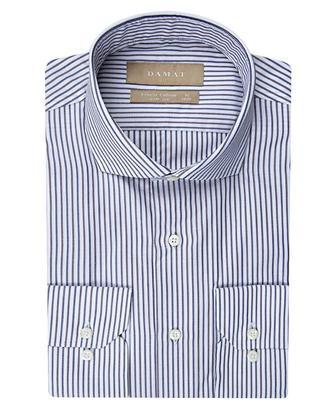 Damat Slim Fit Beyaz Çizgili Gömlek - 8681649375333 | Damat Tween