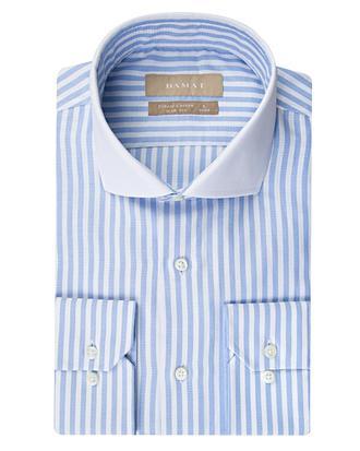 Damat Slim Fit Beyaz Çizgili Gömlek - 8681649311249 | D'S Damat