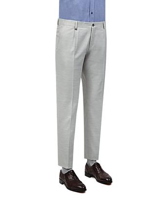 Tween Slim Fit Gri Düz Kumaş Pantolon - 8681649122425 | D'S Damat