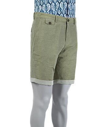Tween Slim Fit Yeşil Çizgili Şort - 8681649583240 | Damat Tween