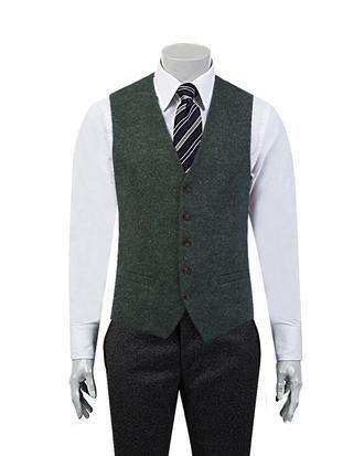 Tween Slim Fit Yeşil Yelek - 8681649396864 | Damat Tween