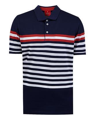 Damat Lacivert Çizgili T-shirt - 8681649173939 | Damat Tween
