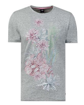 Tween Gri Baskılı T-shirt - 8681649725954 | Damat Tween