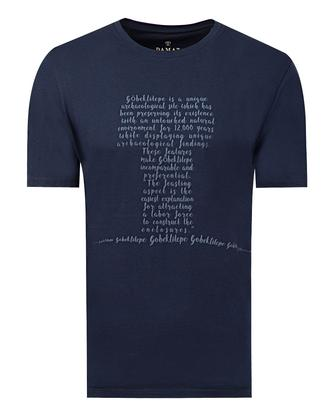 Damat Lacivert Baskılı T-shirt - 8681649720539 | Damat Tween