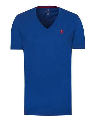 Tween Saks Mavi Baskılı T-shirt - 8681649194828 | Damat Tween