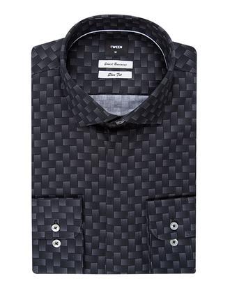 Tween Slim Fit Siyah Desenli Gömlek - 8681142848327 | Damat Tween