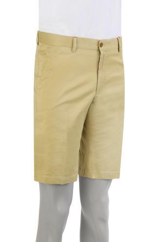 Damat Slim Fit Sarı Kaz Ayağı Şort - 8681649572763   Damat Tween