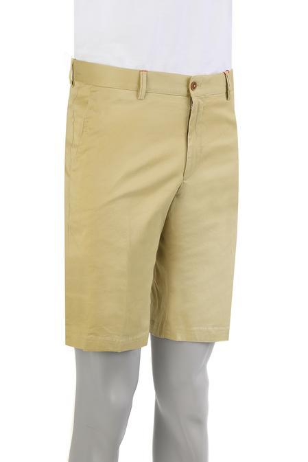 Damat Slim Fit Sarı Kaz Ayağı Şort - 8681649572763 | Damat Tween