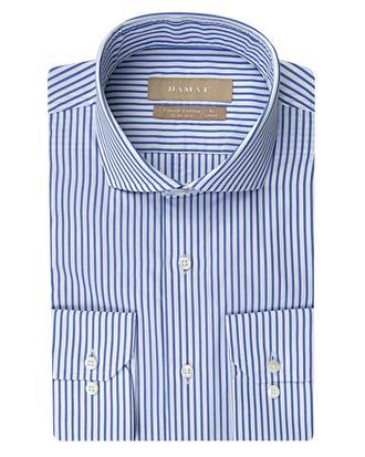 Damat Slim Fit Mavi Desenli Gömlek - 8681649372929 | Damat Tween