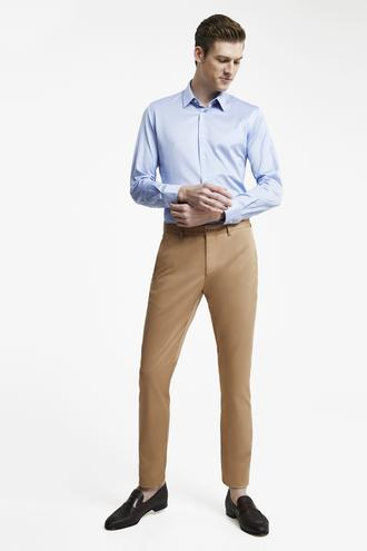 Damat Slim Fit Camel Chino Pantolon - 8682364484577 | Damat Tween