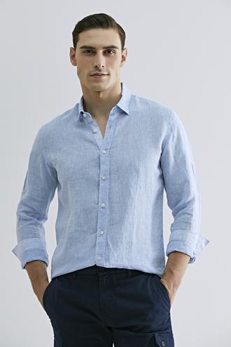 Tween Slim Fit Mavi Düz Gömlek - 8681649889809 | Damat Tween