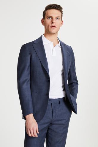 Damat Slim Fit Lacivert Superfine Wool Kumaş Ceket - 8681649851271   Damat Tween