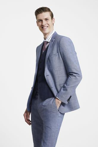 Tween Slim Fit Lacivert Yelekli Takım Elbise - 8681649891512 | Damat Tween