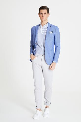 Tween Super Slim Fit Gri Chino Pantolon - 8682364665112   Damat Tween