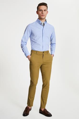 Damat Slim Fit Lime Chino Pantolon - 8682364484997   Damat Tween