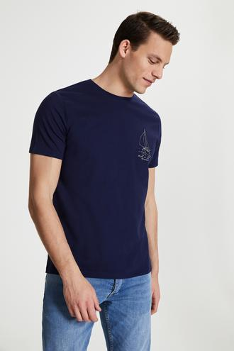 Damat Lacivert Baskılı T-shirt - 8682364201839 | Damat Tween