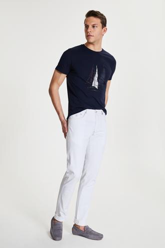Damat Slim Fit Beyaz Denim Pantolon - 8682364202096 | Damat Tween