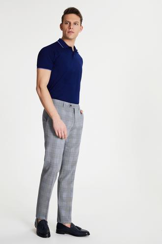 Damat Slim Fit Lacivert Kumaş Pantolon - 8682364489398   Damat Tween