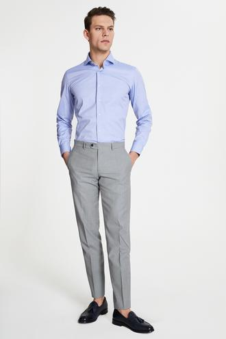 Damat Slim Fit Lacivert Desenli Kumaş Pantolon - 8682364489442   Damat Tween