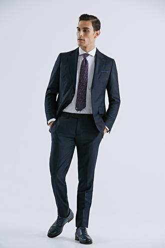 Damat Regular Fit Lacivert Çizgili Takım Elbise - 8682364209422   D'S Damat