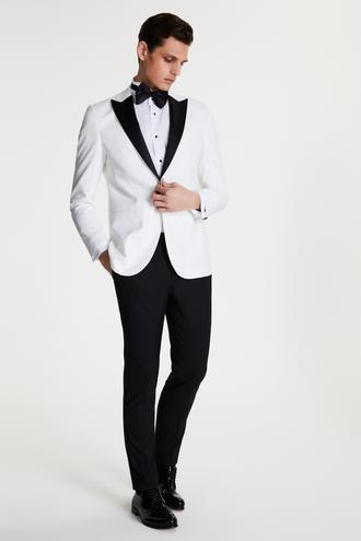 Tween Slim Fit Beyaz Smokin Takım - 8681649920755 | Damat Tween