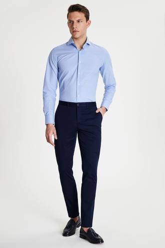 Damat Slim Fit Lacivert Chino Pantolon - 8681649982760 | Damat Tween