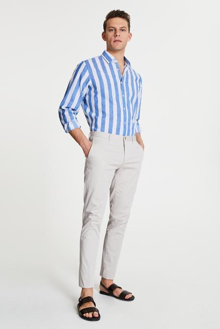 Damat Slim Fit Taş Chino Pantolon - 8681649982678   D'S Damat