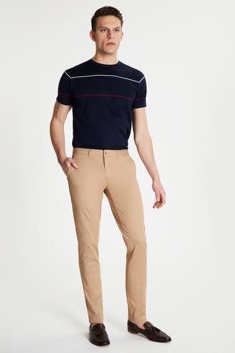 Damat Slim Fit Camel Chino Pantolon - 8681649982852 | Damat Tween