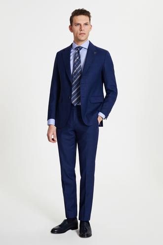 Damat Regular Fit Lacivert Superfine Wool Takım Elbise - 8682364490806   Damat Tween