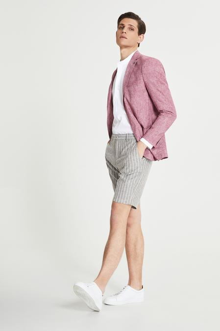 Tween Slim Fit Mürdüm Desenli Kumaş Ceket - 8681649989295 | D'S Damat