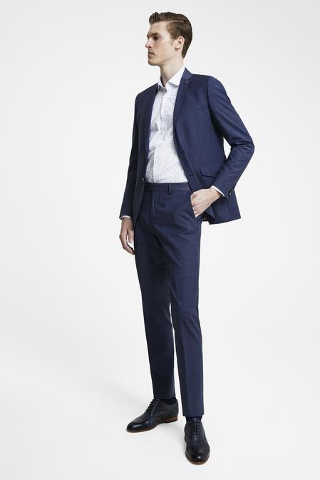 Tween Slim Fit Lacivert Desenli Takım Elbise - 8681649989721   Damat Tween