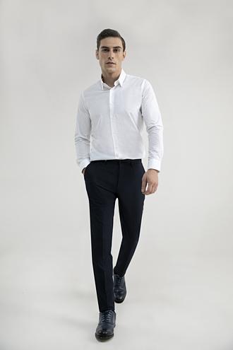 Tween Slim Fit Lacivert Kumaş Pantolon - 8682364434879 | Damat Tween