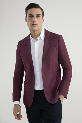 Tween Slim Fit Mürdüm Kumaş Ceket - 8682364357772 | Damat Tween