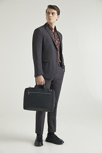 Twn Slim Fit Bordo Armürlü Takım Elbise - 8682060670656 | D'S Damat