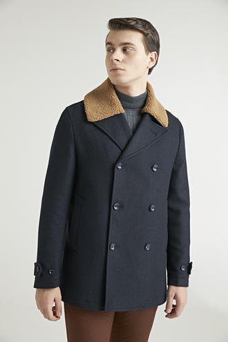 Ds Damat Regular Fit Lacivert Palto - 8682060766847 | D'S Damat