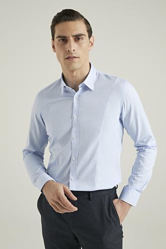 Tween Slim Fit Mavi Gömlek - 8682364355020 | Damat Tween