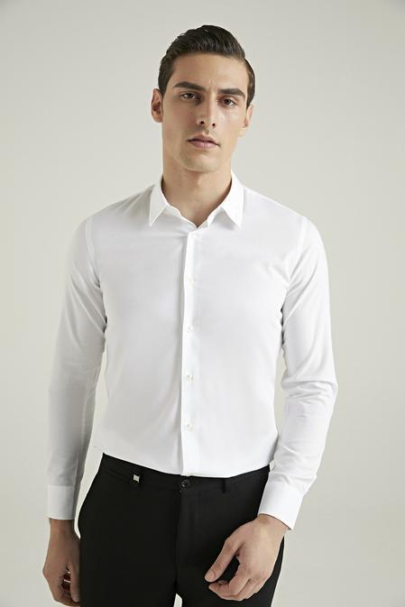 Tween Slim Fit Beyaz Gömlek - 8682364355822 | Damat Tween