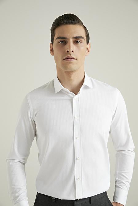 Tween Slim Fit Beyaz Gömlek - 8682364825394   Damat Tween