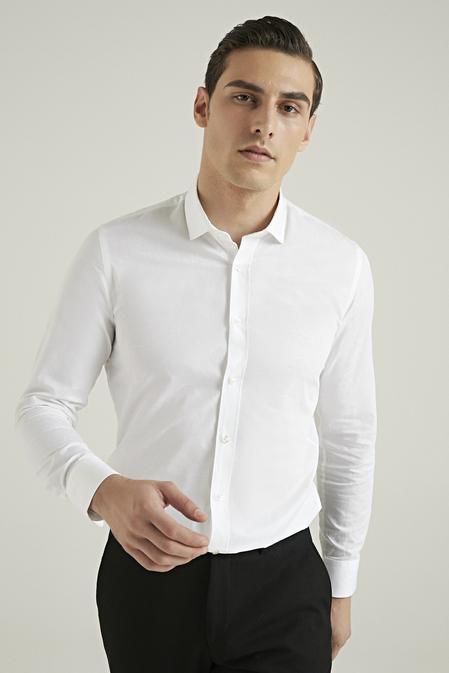 Tween Slim Fit Beyaz Gömlek - 8682364355525 | Damat Tween