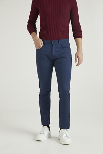 Twn Slim Fit Lacivert Baskılı Chino Pantolon - 8682060791511   D'S Damat