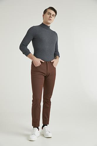 Twn Slim Fit Bakır Baskılı Chino Pantolon - 8682060791689 | D'S Damat