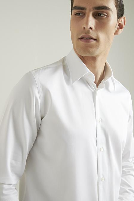 Damat Comfort Beyaz Düz Gömlek - 8682364628988   Damat Tween